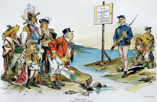Доктрина Монро. Нет нарушениям границ — Америка для американцев. 1896