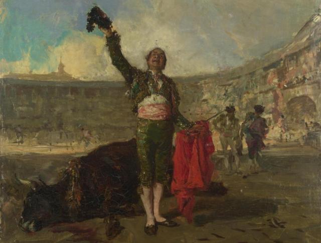 Мариано Фортуни-и-Карбо. Тореадор (фрагмент). 1869