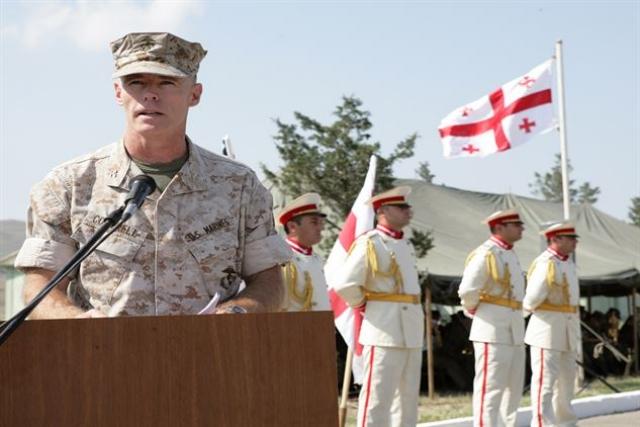 Американский военный инструктор в Грузии
