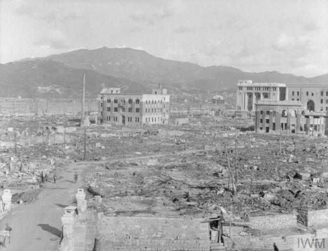 Разрушенная Хиросима после атомной бомбардировки
