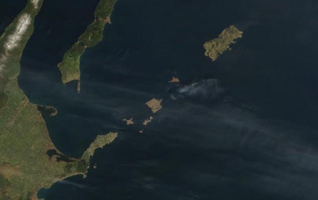 Острова Хабомаи. Вид из космоса