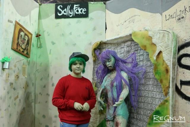Косплей-стенд по Sally face (игра в жанре приключения)