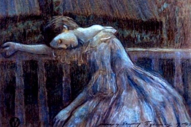 Виктор Борисов-Мусатов. Одиночество (фрагмент). 1905