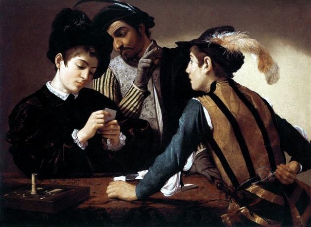Микеланджело Меризи да Караваджо. Шулеры. 1594