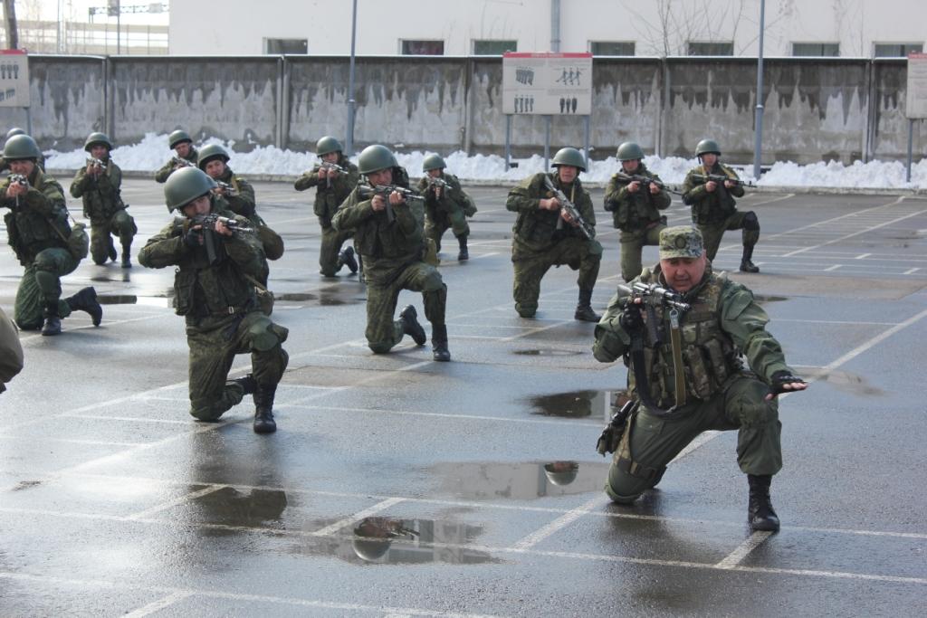 Учебные занятия морской пехоты