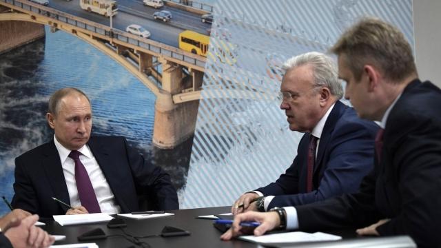 Путин на совещании по экологической ситуации в Красноярском крае