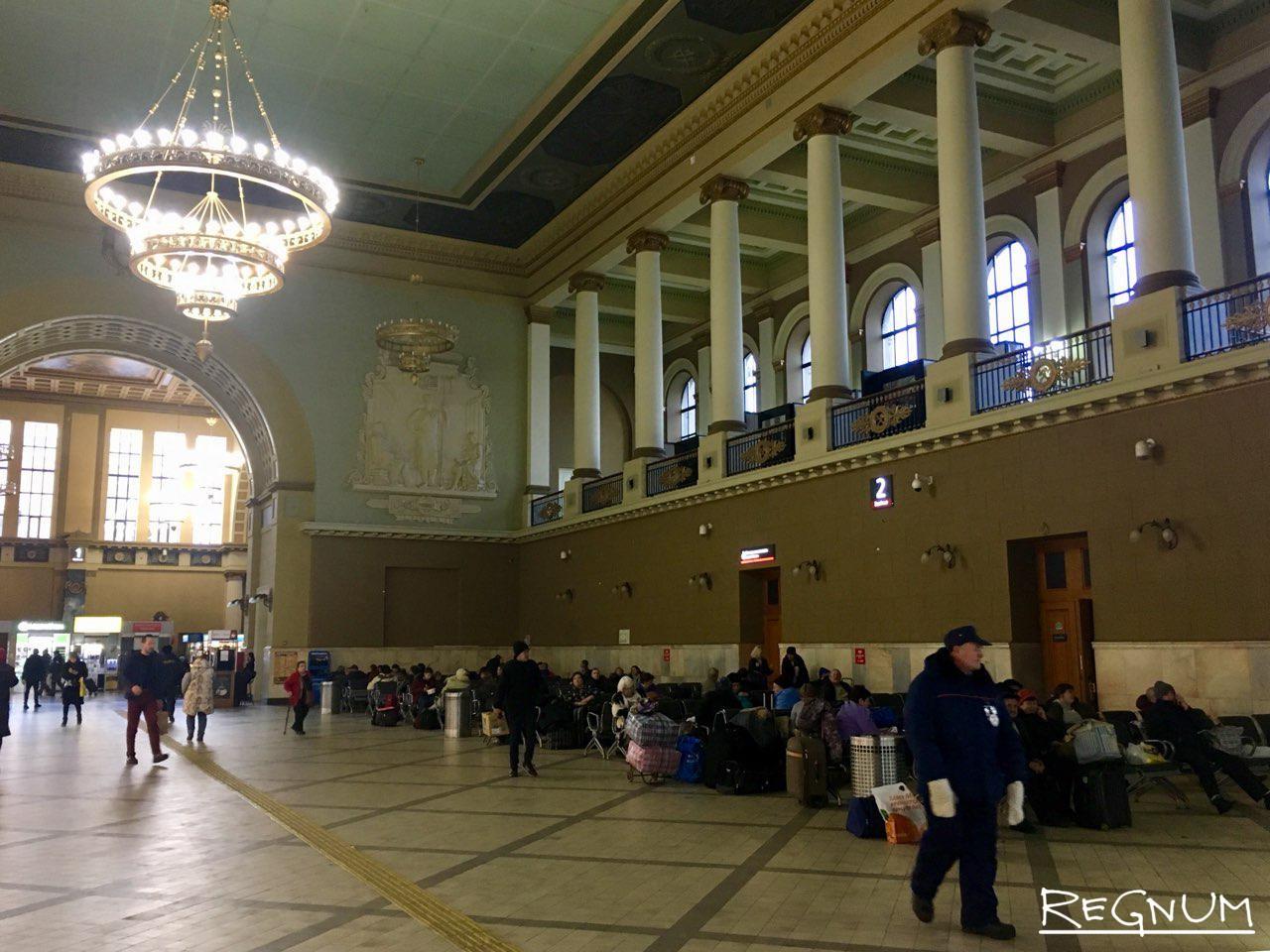 Холл киевского вокзала