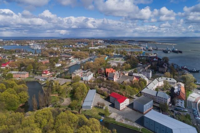 Вид на морской порт Балтийска