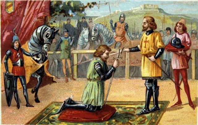 Классическое посвящение в рыцари