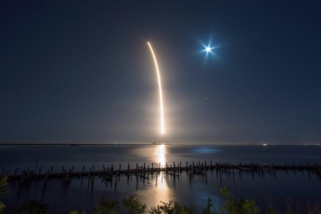 Старт космической ракеты