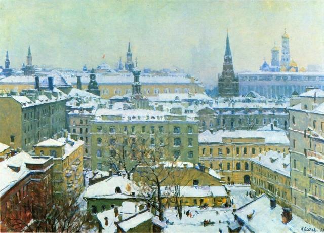 Николай Осенев. Москва. Зима. 1967