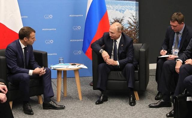 Путин и Макрон обсудили Украину, Сирию и вопросы кибербезопасности