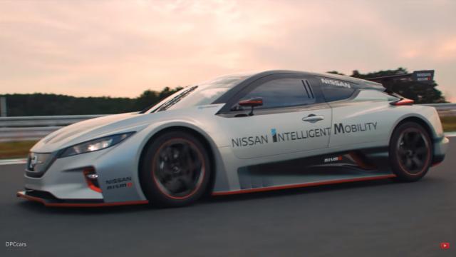 Компания Nissan представила гоночный электрокар Leaf Nismo RC