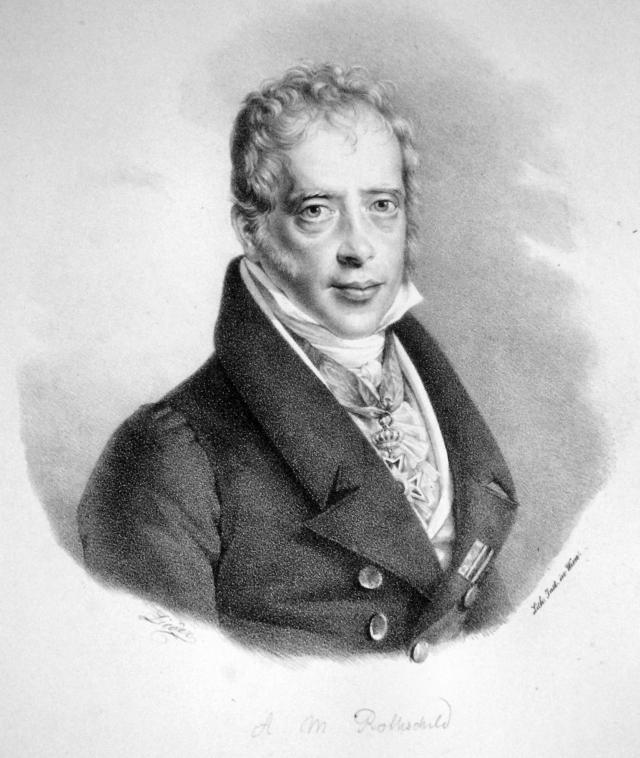 Фридрих Лидер. Мейер Амшель Ротшильд (фрагмент). Около 1830