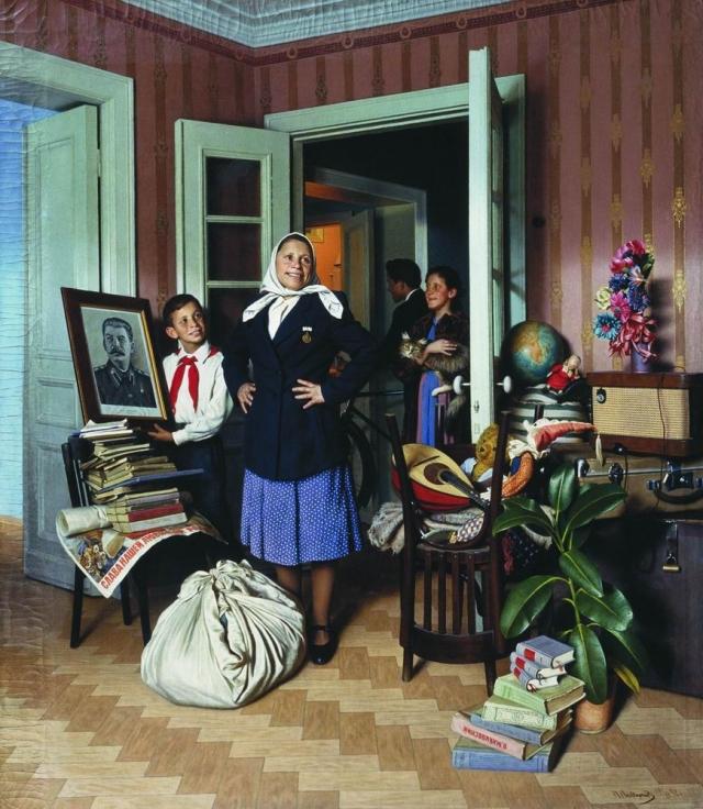 Александр Лактионов. Переезд на новую квартиру. 1952