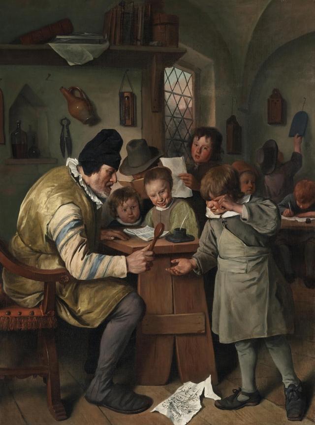 Ян Стен. Школьный учитель. 1665
