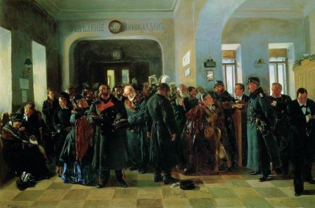 Владимир Маковский. Крах банка. 1881
