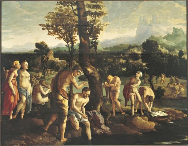 Ян ван Скорел. Крещение в Иордане. 1530
