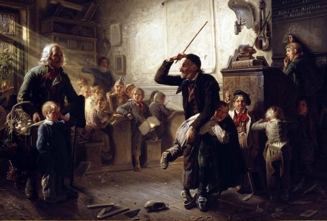 Иоганн Петер Газенклевер. Первый день в школе. 1852