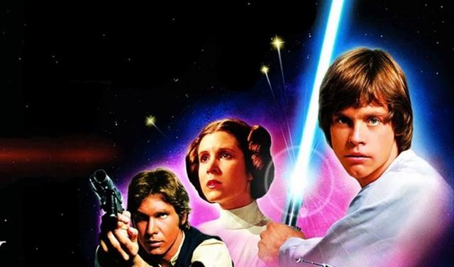 Постер в фильму «Звёздные войны. Эпизод IV. Новая надежда» (фрагмент)