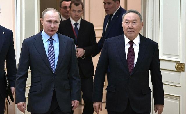 Путин и Назарбаев обсудили взаимодействие в рамках ЕАЭС