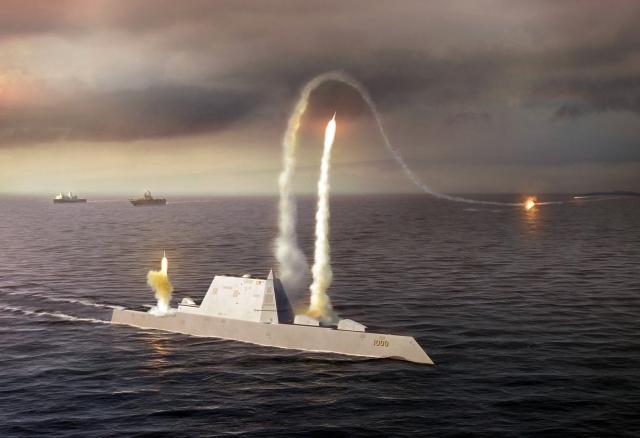 СМИ: Чудо-эсминец США Zumwalt переделают в обычный носитель крылатых ракет