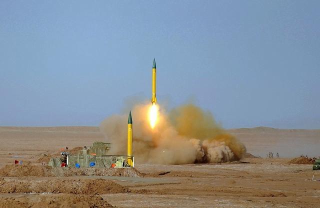 Пуск ракет «Шахаб-3». Иран