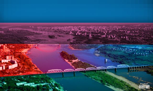 Мосты через Обь объединяют Новосибирск и разделяют людей