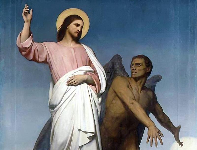 Ари Шеффер. Искушение Христа. 1854 (фрагмент)
