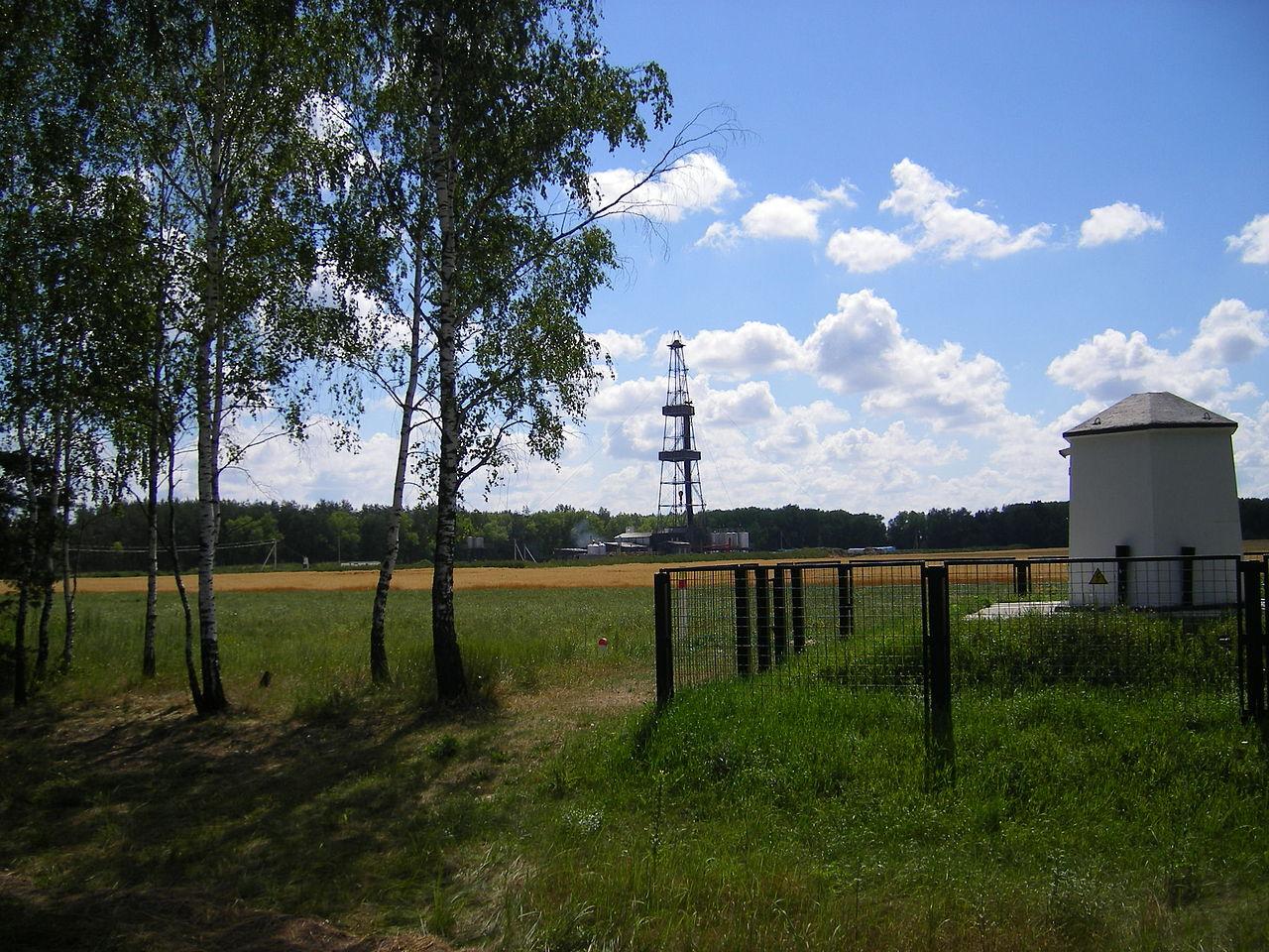 Нефтяная вышка в Речице, Белоруссия