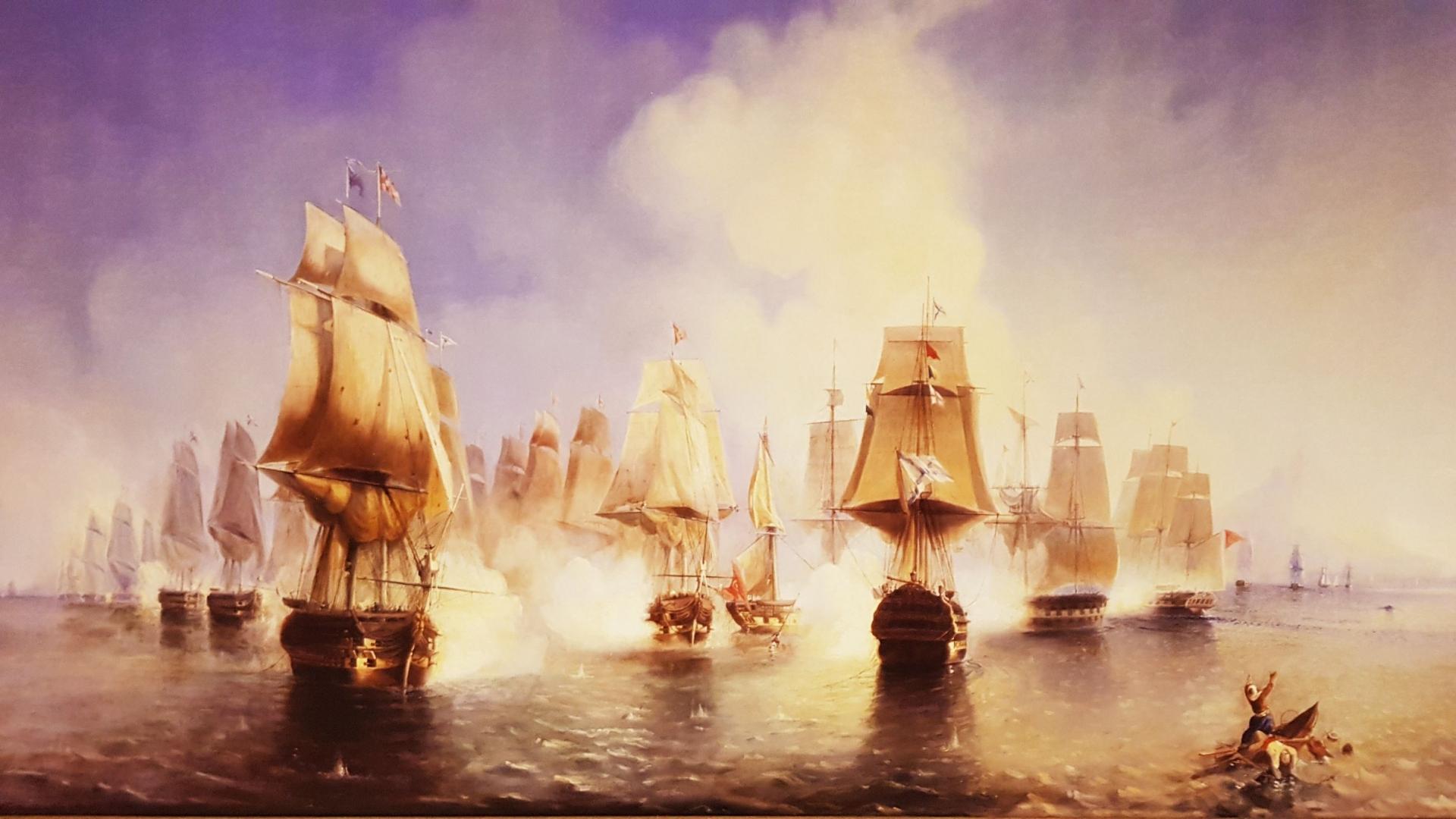 Афонское сражение у полуострова Афон в Эгейском море 1807 года с турецким флотом