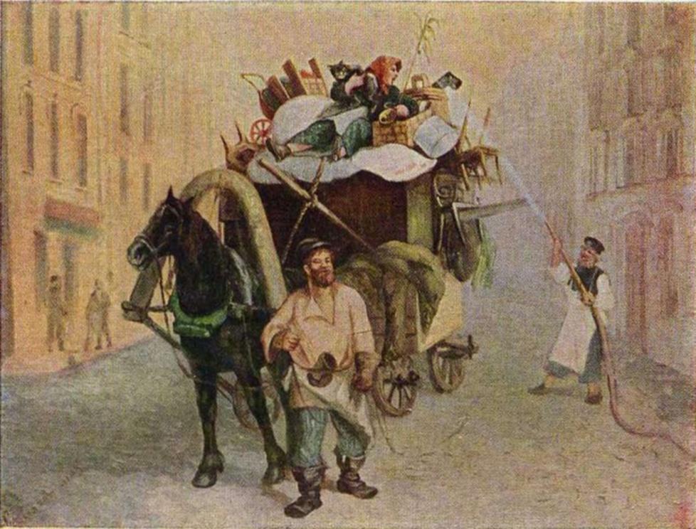 Леонид Соломаткин. Переезд с дачи. 1870