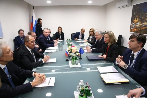 Встреча Сергея Лаврова с Федерикой Могерини