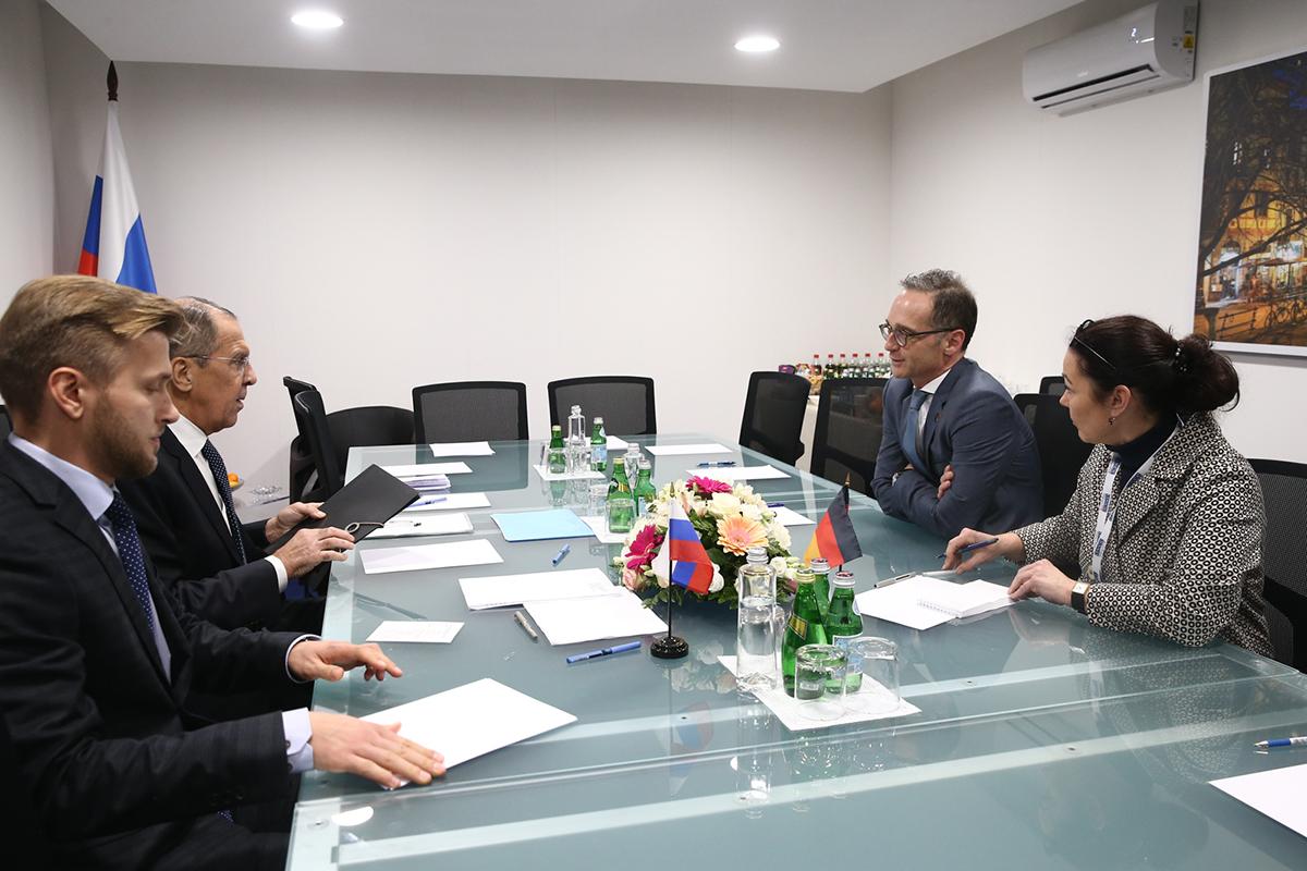 Встреча Сергея Лаврова с Хайко Маасом