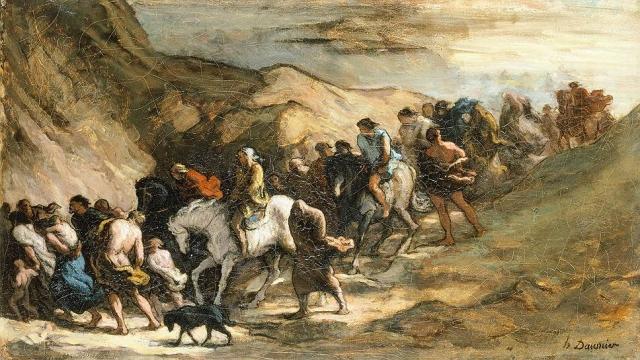 Оноре Домье. Беженцы. 1850