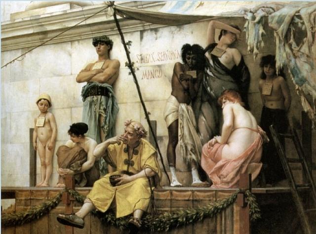 Гюстав Буланже. Торговля рабами, 1886