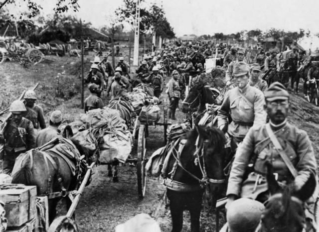 Колонна японских войск в Китае. 1941