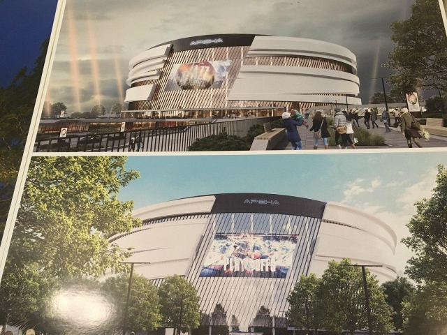 Проект новой хоккейной арены на месте СКК