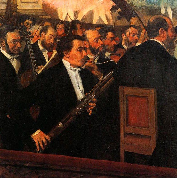 Эдгар Дега. Оркестр Оперы. 1868-1869