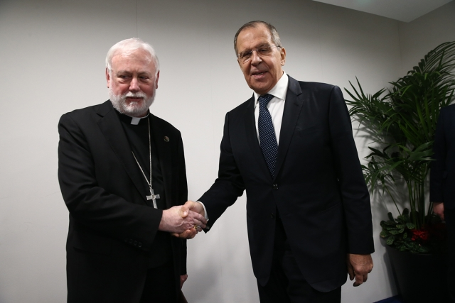 Пол Галлахер и Сергей Лавров