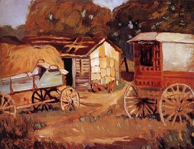 Грант Вуд. Фермерская повозка. 1918