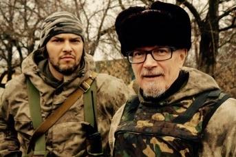 Александр Аверин и Эдуард Лимонов в Донбассе. Фото со страницы Александра Аверина в Facebook