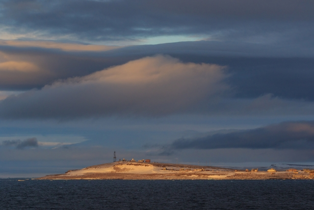 Вид на метеостанцию острова Хейса