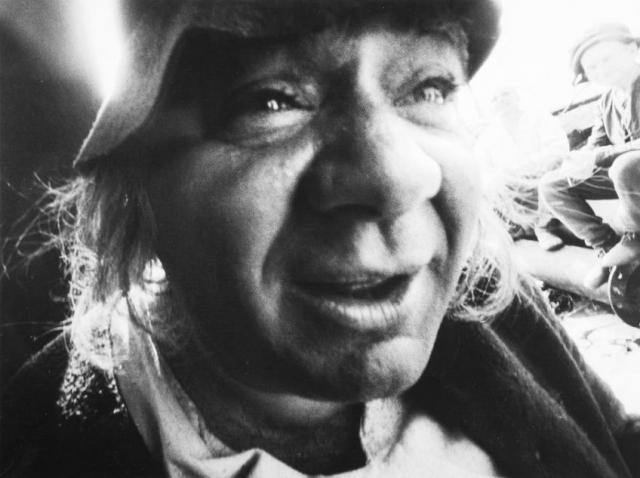 Евгений Леонов на съемках фильма «Легенда о Тиле». Рига, Латвия. 1974