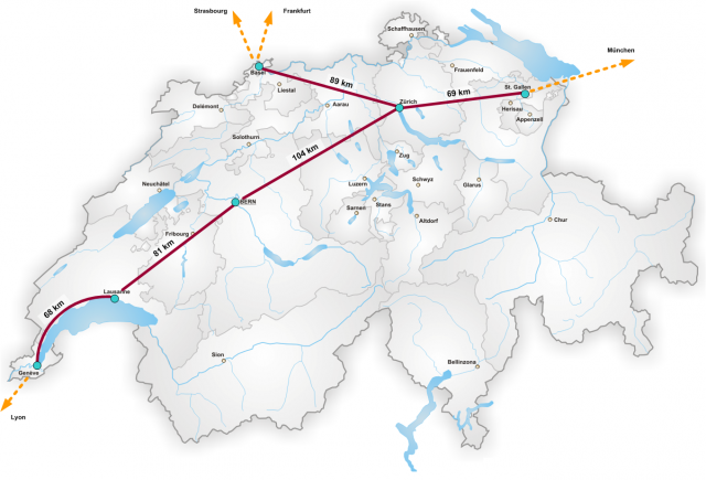 В Швейцарии построят первую линию для вакуумного поезда