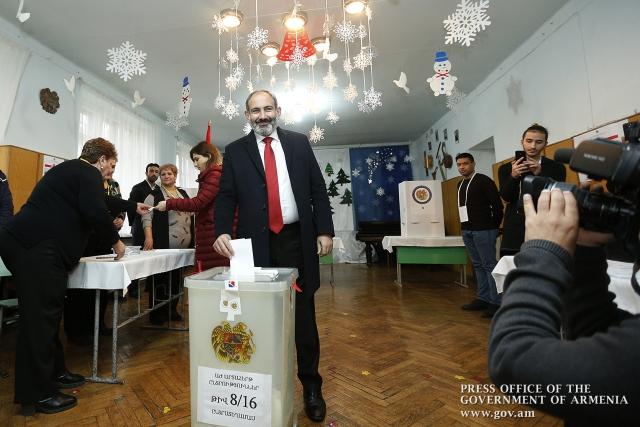 ЦИК Армении подвела окончательные итоги внеочередных парламентских выборов