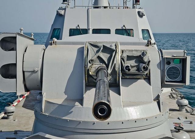 Корабельная артиллерийская установка на украинском бронекатере типа «Гюрза»