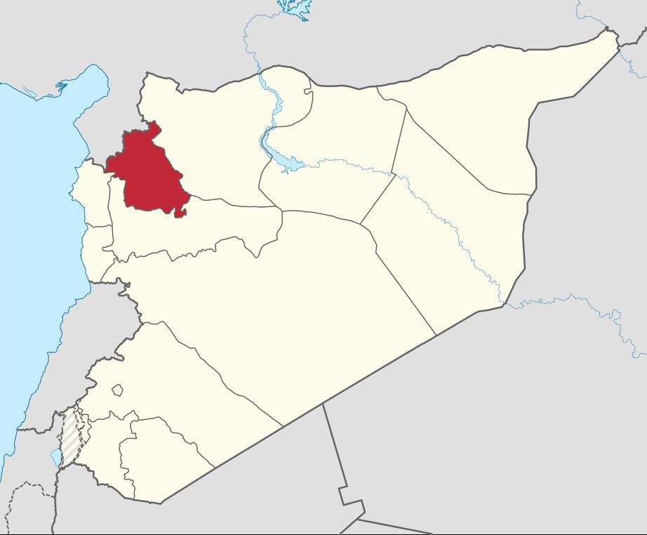 Провинция Идлиб на карте Сирии