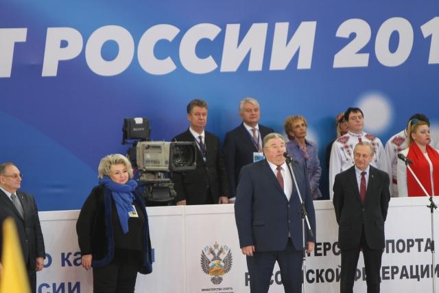 Татьяна Тарасова, Владимир Волков, Александр Горшков (слева направо)