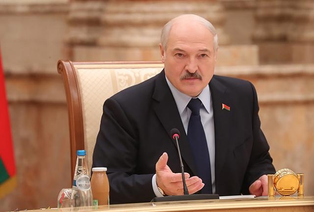 Александр Лукашенко на встрече с представителями российского медийного сообщества во Дворце Независимости, 14 декабря 2018 года